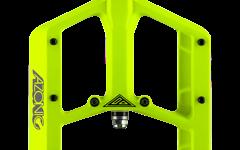 Azonic BIGFOOT PEDAL 120x110mm  NEON YELLOW Plattformpedale Downhill Freeride Enduro