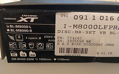 Shimano XT BL-M8000-L (Vorderrad), neu