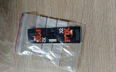 Fox Dhx 2 Factory Dämpferaufkleber