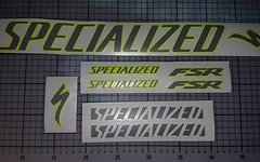 Evocore Design Specialized Decals in GRAU/NEONGELB