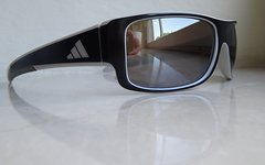 Adidas Kundo Sonnenbrille a374/01 6054, black/grey, LST Bluelightfilter silver, neuwertig