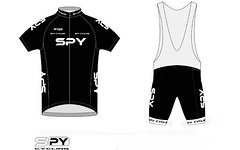Spy Cycling Trikot Set black Größe: S-XXL