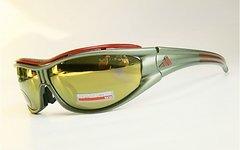 Adidas Bike-/Sport-Brille Evil Eye | Space Lens | oliv-metallic / rot