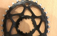 Absolute Black OVAL SRAM GXP 32T Black  6mm Offset