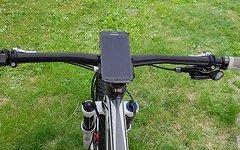 Aluminium CNC Smartphone Halter für Navi / Strava / GPS Tracking *silber*
