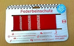 Speed Stuff Federbeinschutz für Luftdämpfer Rear Air Suspension Boot rot/gelb