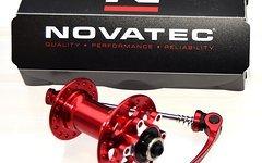 Novatec Vorderrad Disc Nabe 6-Loch in rot mit Industrielager D711SB