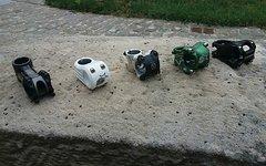 Spank Vorbau Konvolut - Spank Spike, Spank Timer, Kore Repute, FSA Gravity Light, Specialized Vario - alles von 35mm bis 90mm Länge, 31.8er Klemmung