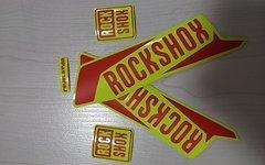 Gabeldecals Rock Shox Revelation Gabel Aufkleber Satz - NEON Gelb/Matt Rot
