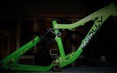 Knolly Chilcotin Enduro Rahmen (S) + Hope 40 Steuersatz NEUWERTIG - Day Glow Green