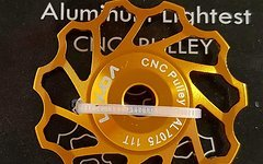 Cyconsult® Schaltwerkröllchen Set / 11 Zähne / Pully 11T *gold anodisiert* Aluminium