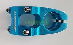 Aluminium Vorbau 45mm *blau* (31,8mm Lenker / 28,6mm Gabelschaft)