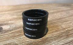 """Saracen Spacer Set schwarz 1 1/8"""""""