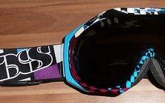 IXS X-Combat Flag Goggle Purple Blue inkl. Zubehör