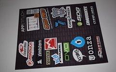Stickerbogen verschiedene Marken