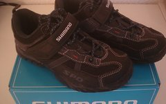 Shimano SPD MTB Touring Schuhe, SH-MT42, Gr. 38, navy/black mit SPD Cleats