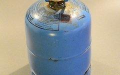California-Fahrer Aufgepasst! Kleine blaue Campinggaz Gasflasche 0,5l - Typ 901