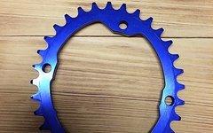 Works Components Ovales Kettenblatt, 32 Zähne, blau, BCD104