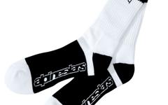 Alpinestars 3x Kamikaze Hi Crew Socks White Black S/M
