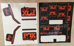 Fox  Racing Shox Sticker Set 2017 Decals orange