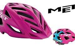 Met Terra All Mountain Helm - Matt Pink / Cyan