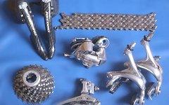 Campagnolo 9x Record Titanium Gruppe: Ergopower/Schaltwerk/Umwerfer/Bremsen/Kassette Titan/Kette