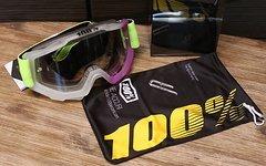 100% Accuri Goggle clear/purple *NEU*