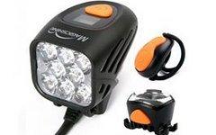 Magicshine MJ 908 Helmlampe Set ink. Lampenkopf+ Rücklicht+Remoteswitch+ Helmhalterung Set