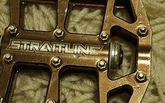 Straitline DeFacto Plattformpedale eloxiert braun/gold