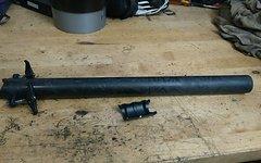 Token Carbon Sattelstuetze 31,6mm x 400mm Carbon Stuetze