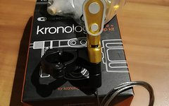 Crankbrothers Kronolog Remote + Clamp Kit  Farbe gold - neu*