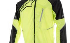 Alpinestars Sirocco Rain Jacket Yellow Fluo Black S