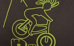 Biketrulla Damen Funktionsshirt mit Biketrullamotiv Lady on Bike