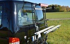 Paulchen Fahrradträger für VW T5 mit zusätzlicher Gasfeder