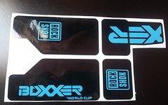 Gabeldecals Rock Shox Boxxer WC 2010-2012 Gabel Decal Satz