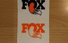 Fox Heritage Logo Sticker Schriftzug 4x orange