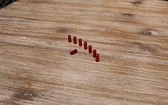 Endkappe Alu / CNC rot eloxiert 5mm *8 Stück*