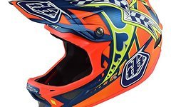 Troy Lee Designs D3 Longshot Orange Fullface Helm S *NEU*