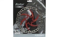 Ashima ARO-08 Bremsscheibe 180 mm / rot / mit Schrauben / 112 Gramm