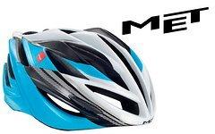 Met Helm FORTE in 52-59cm (M) cyan / black / white