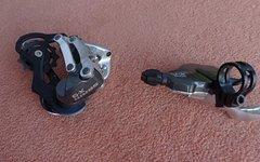 SRAM X9 Umwerfer kurzer Käfig incl. Schalthebel 9-fach