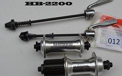 Shimano Nabensatz Rennrad Nabe VR+HR in silber mit schnellspanner HB-2200