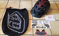 Troy Lee Designs A1 Drone Black, Top Helm