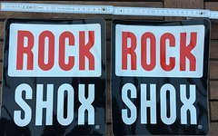 Rock Shox Aufkleber 18x18 cm groß