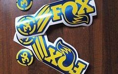 Gabeldecals Fox 36 Gabel Aufkleber Satz Metallic Blau - Gelb