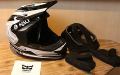 Kali Youth Fullface Helm schwarz/grau (52-53cm) *NEU*