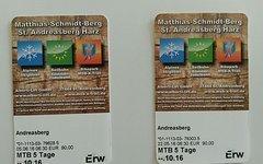 5-Tages Tickets für den Bikepark St. Andreasberg/ MSB-X-Trail
