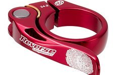 Reverse Components Sattelschelle LONG LIFE Ø 34.9mm Red Seatclamp with brass washer- LONG LIFE clamp 46g