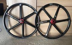 """Bike Ahead Biturbo S - MTB 26"""" Zoll - Carbon Laufradsatz, 135x12 / 15x100"""