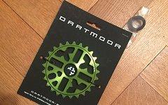 Dartmoor BMX DIRT Kettenblatt 25 Zähne NEU Trance Green Grün